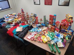 MSU food drive donations.